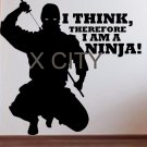 I think therefore I am a Ninja SILHOUETTE Poster Japan Manga Decal Vinyl Sticker Wall Art Home Room