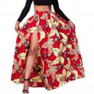 New Hot Summer Women Dashiki Skirt African Print Clothing African Style with Side Split Vintage Maxi