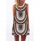 Floral Print Dashiki Dress 2017 Sleeveless Design African Clothing Cotton Summer Boho Mini Beach Dre