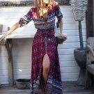 Autumn Winter Long Maxi Beach Dress Geometric Folk Ethnic Bohamian Dashiki Robe Hiver Pull Fall 2016