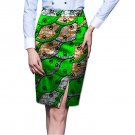 Fashion Elegant Side Slit African Skirt Womens Colorful African Print Element Dashiki Clothing Tailo