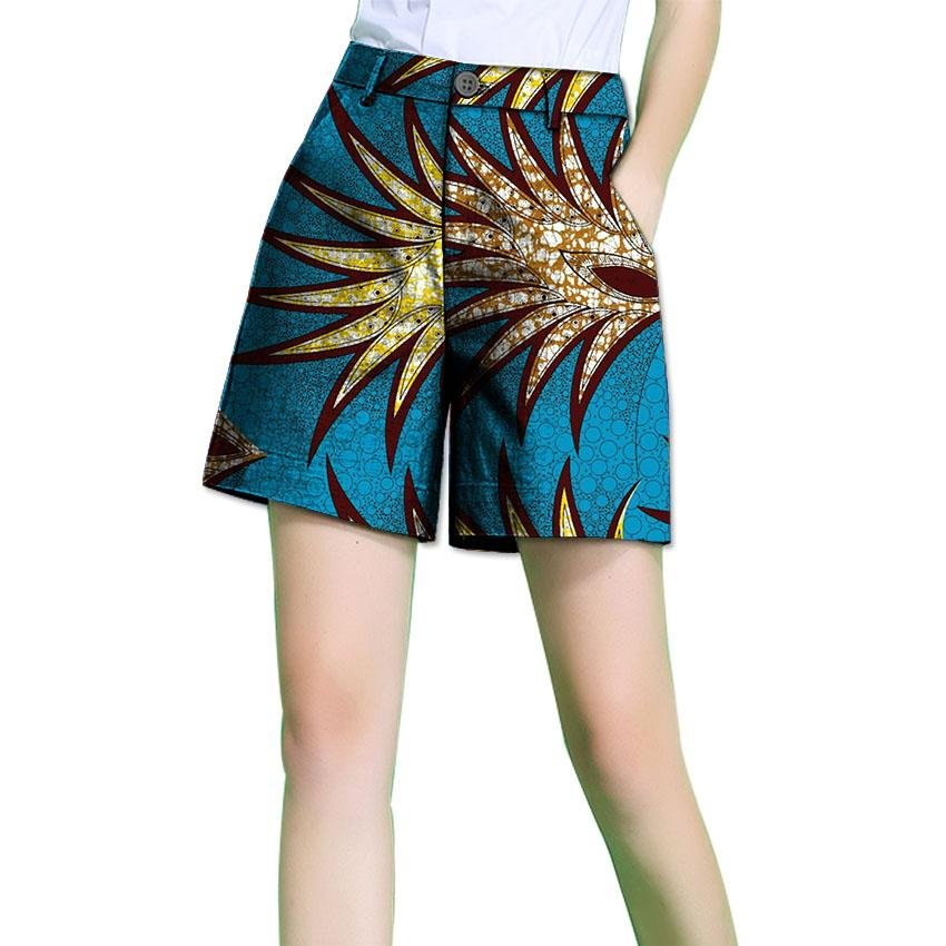 Fashion Summer African Women Short Pants African Print  Dashiki Clothes Batik For Lady Casual shorts