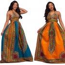Summer Dashiki African Print Dresses 2017 Women Clothing Long Maxi Robe Vestidos Vintage Dress J1319