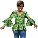 Spring Fashion Flare Sleeve Women Tops Dashiki Clothes African Festive Print Long Sleeve T-Shirt Afr