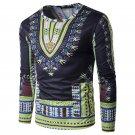 Africa National Floral 3D Print T Shirt Men 2017 New Long Sleeve Tee Shirt Homme Casual Slim Fit Das