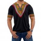 Male Retro Tshirt Africa Tops Men Dashiki T shirts African Print Traditional Clothing Black White Re