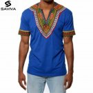 2017 summer autumn mens African clothing dashiki clothes knitting stitching Batik printing short sle