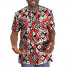 African shirt male tops print short sleeve men africa t shirt fashion traditional design o-neck dash