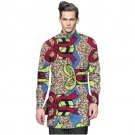 African fashion mens tops shirt stand collar dashiki print african clothes custom made men fashion l