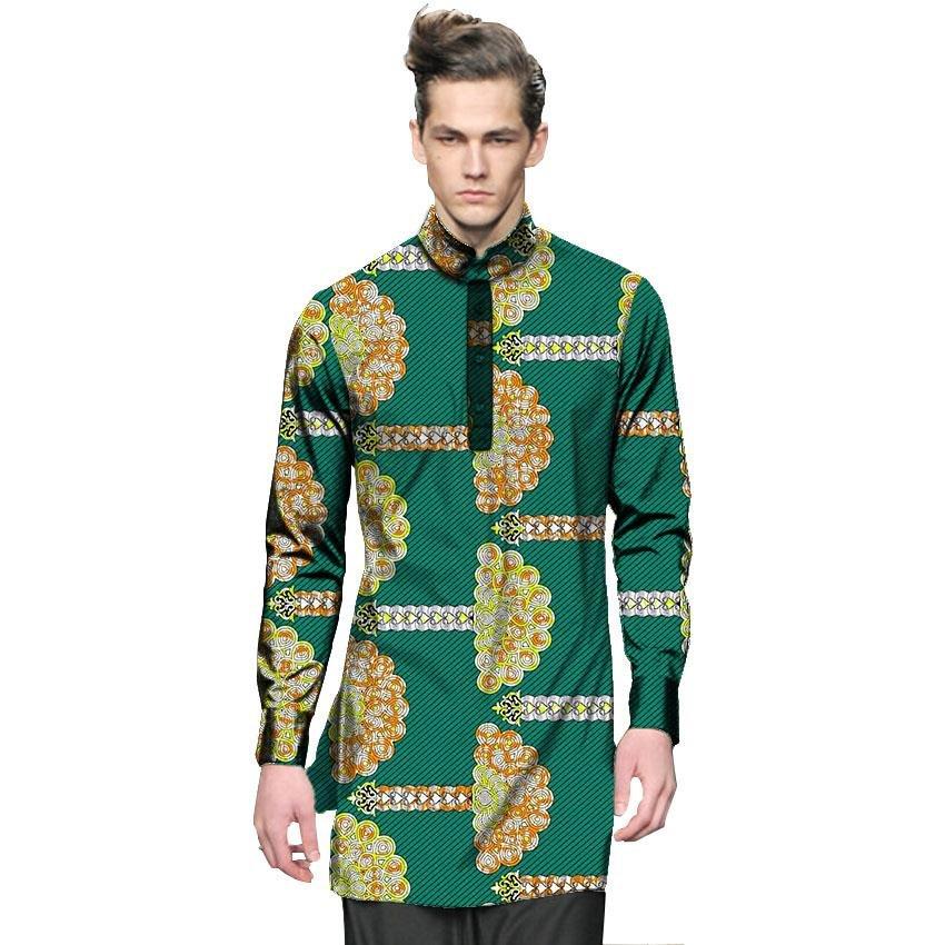 Fashion mens dashiki clothes mens african shirt personal long sleeve tops custom made print africa c