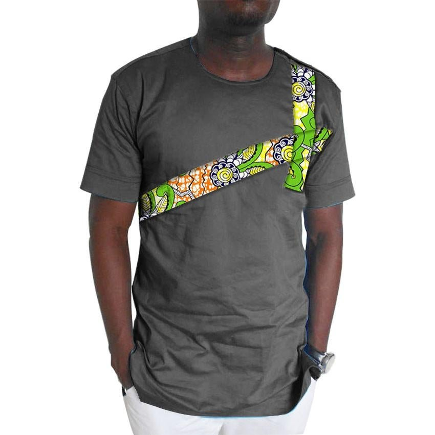 African mens tops with made to measure men dashiki clothes fashion for male short sleeve african lei