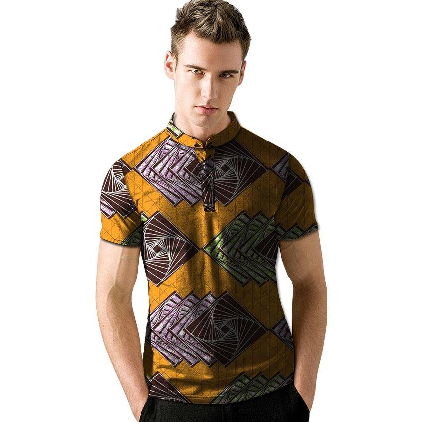 Custom made fashion mens africa dashiki clothes african t shirt personal short sleeve tops colorful
