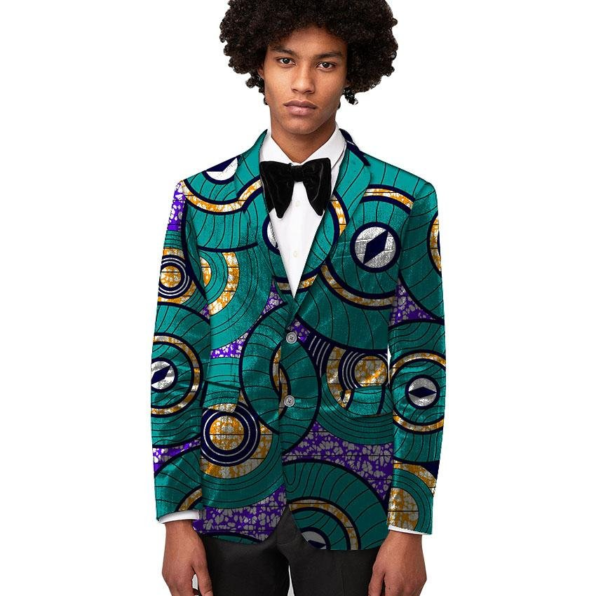 Leisure african men dashiki suit custom african fashion print blazer party mens suit of africa cloth