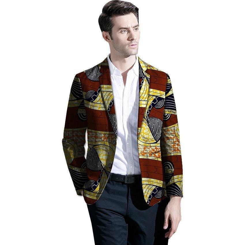 Fashion African blazer men new print patchwork design dashiki suit tailor made blazers custom africa