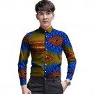 African customized long sleeve men shirt colourful dashiki print tops fashion design print africa cl