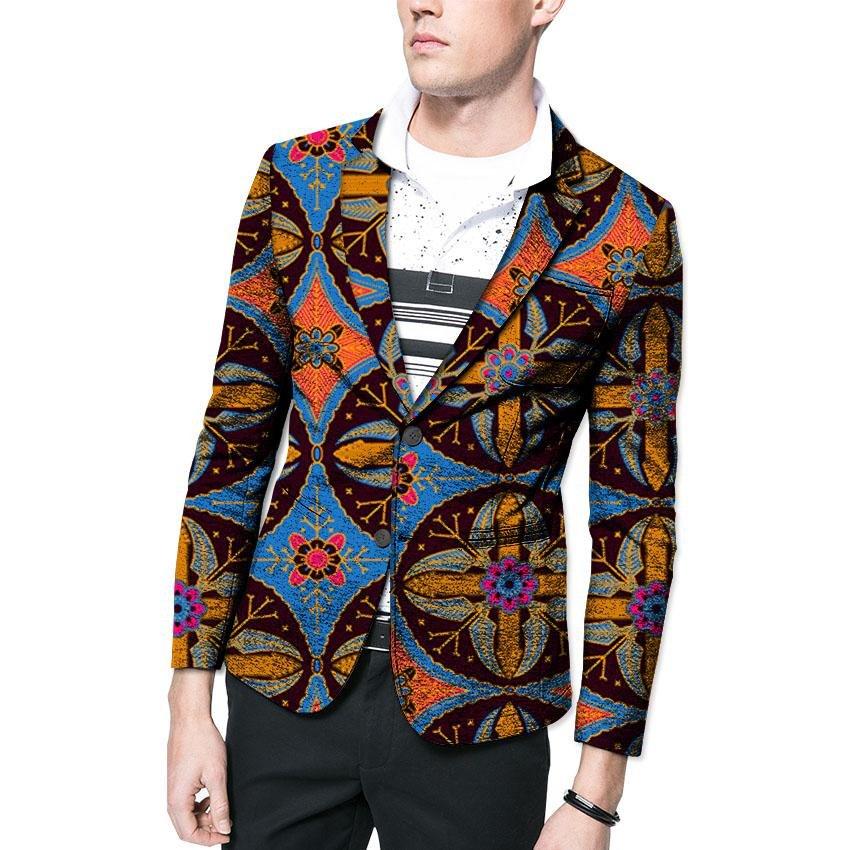 Fashion African blazer african print men dashiki suit tailor made blazers custom africa clothing
