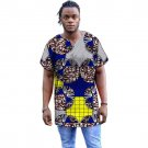 African print mens casual shirt o-neck collar dashiki african clothes for men fashion men short slee