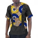 Customized african clothes print t shirts men africa clothing summer short sleeve tops patchwork das