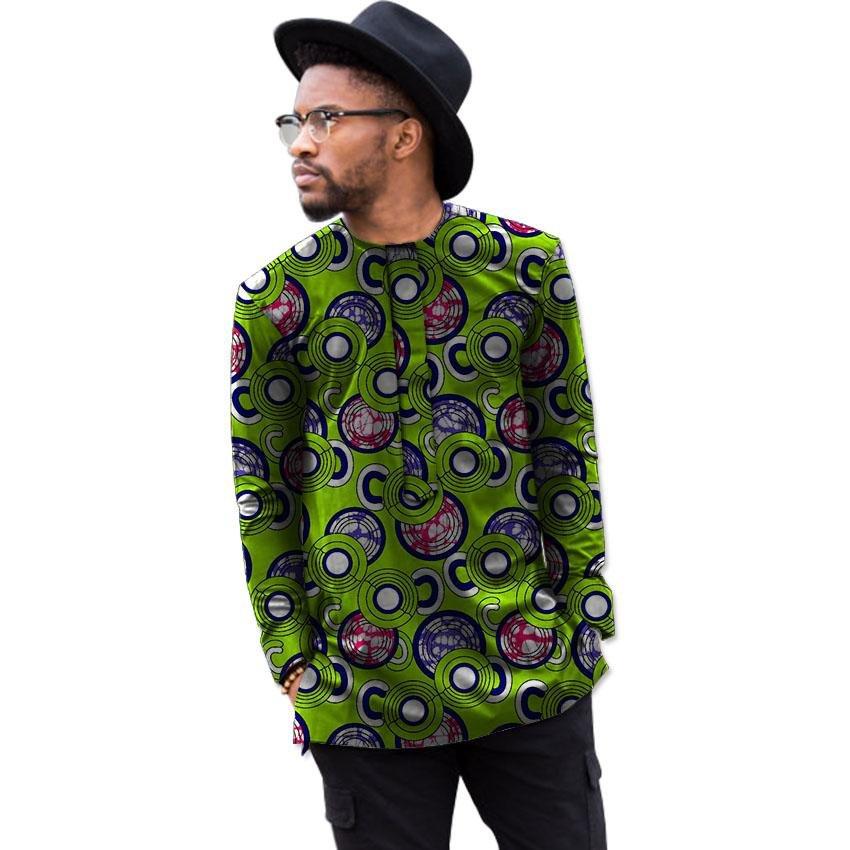 Africa print mens long sleeve t-shirt fashion african shirt man dashiki clothes customized festival