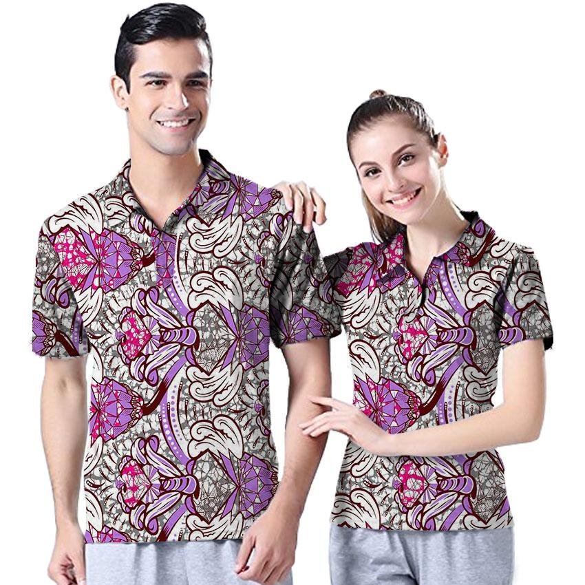 Pack of 2 pieces african t shirt unisex tops print short sleeve africa ouple T-Shirt fashion design