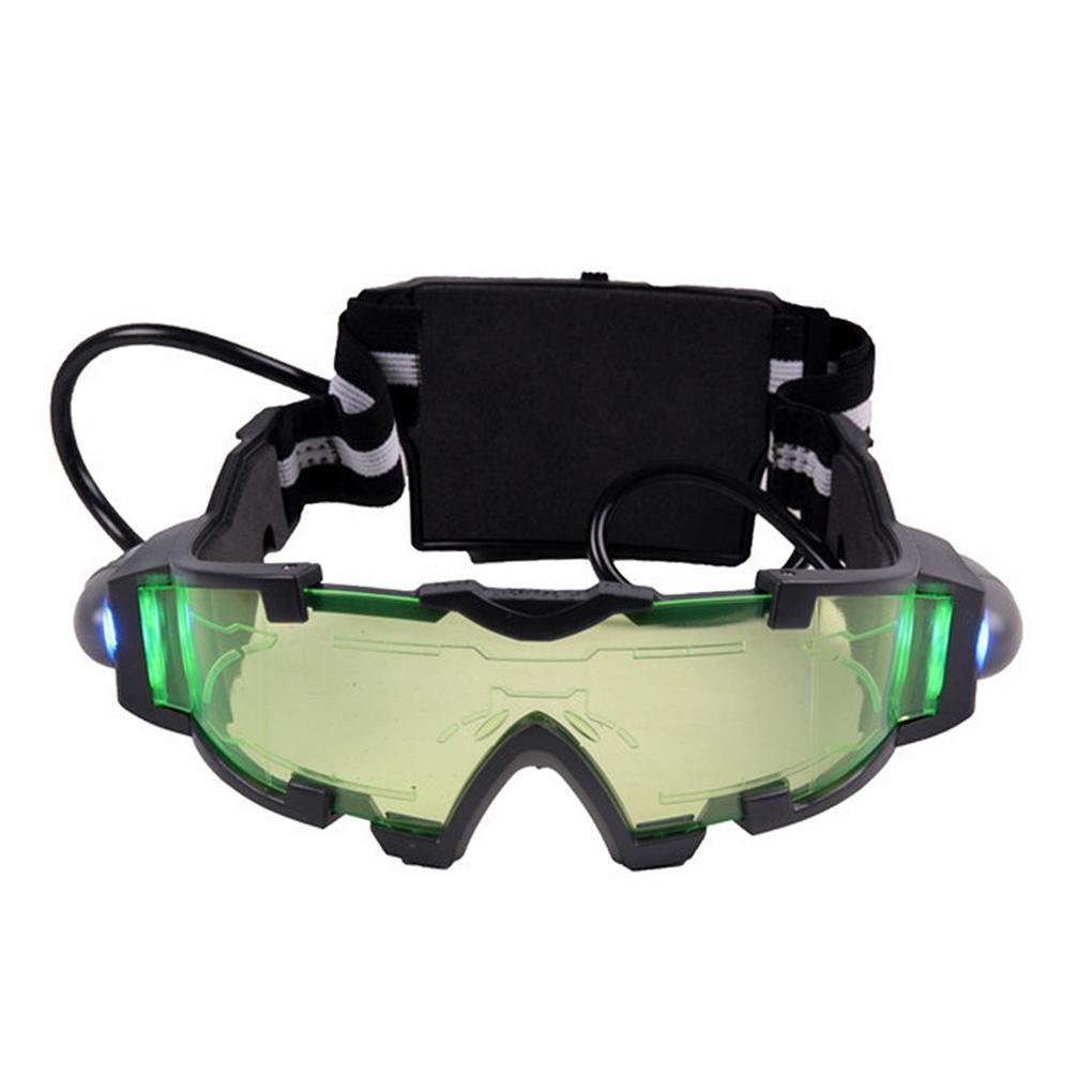 Work Well cool Green Lens Adjustable Elastic Band Night Vision Goggles Glasses Hot Big Promotions