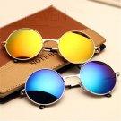 YOOSKE Beautiful Vintage Round Sunglasses Women Male Female Sun glasses Gold Vintage Circle Men SunG