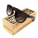 BOBO BIRD CG009 Handmade Fashion Cat Eye Design Imitative Ebony Wood Sunglass Ladies Summer Beach Gl