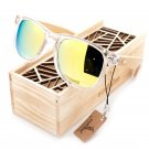 BOBO BIRD New Men and Women Sunglasses Polarized Bamboo Wood Holder Beach Sun Glasses With Wooden Gi
