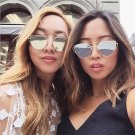 New Cat Eye Sunglasses Women Vintage Fashion Rose Gold Mirror Clear Sun Glasses Unique Flat Sunglass