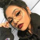 ROYAL GIRL 2017 New High Quality Big Frame Sunglasses Women Brand Designer Hexxagon Gradient Color G
