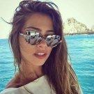 2017 Cat Eye Sunglasses Brand Designer Vintage Half Frame Protection Sun Glasses for Women Sexy Sung