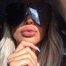 SHAUNA Polarized Oversize Women Rimless Integrated Lens Sunglasses Brand Designer Fashion  Men Drivi