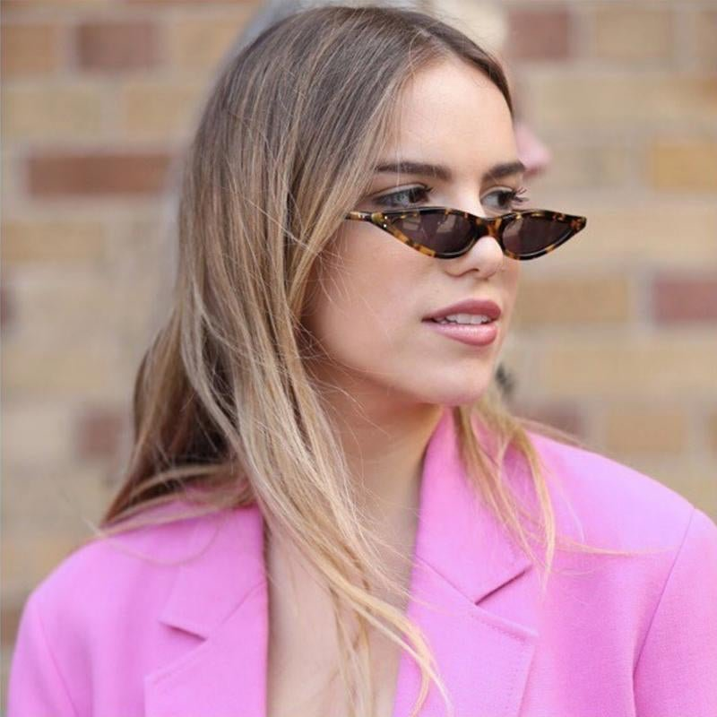 FS YURI YUAN Women Cool Cat Eye Sunglasses Small Size Frame Brand Designer Fashion Lady Sun Glasses