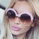 Fashion Vintage Oversized Sunglasses Round Retro Sun Glasses For Women Steampunk 2018 Designer Goggl
