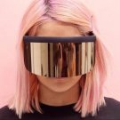 Oversized Sunglasses Women Brand Designer Super Big Frame Sun Glasses For Womens Gold Retro Woman Su