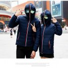 Winter Jackets Men Parkas with Glasses Padded Hooded Coat Mens Warm Camperas Children Windproof Quil