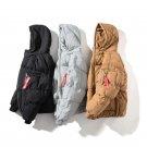 Black Winter Coat Men Grey Khaki Plus Size 4XL 5xl Short Style Puffer Jacket Warm Male Parka Outwear
