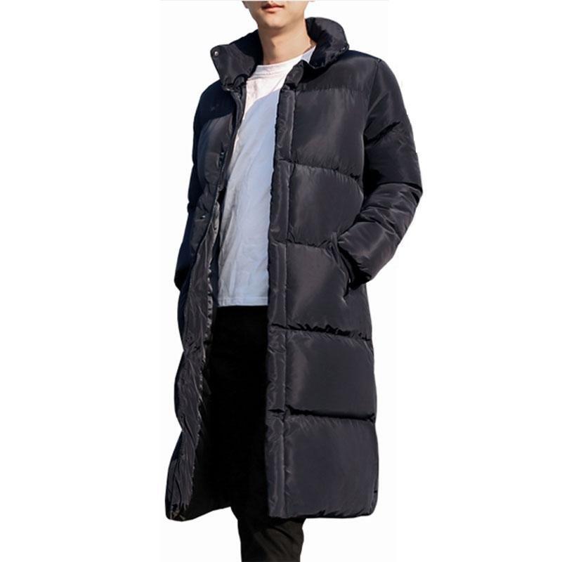 Men Jacket Winter Casual Coat Men Plus Size Winter Coat Black Long Jacket Men Thick Warm Fashion Jac