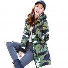 Women\'s Outerwear Camouflage Hoodie Military Jacket M-3XL Plus Size Women Quilted Cotton Zip Camo L