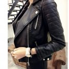 2018 New Fashion Women Faux Soft Leather Jackets HOT Autumn Winter Pu Black Blazer Zippers Coat Moto