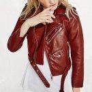 2018 New Hot Autumn Winter Women Faux Soft Leather Jackets Lady Fashion Long Sleeve Motorcycle Coat