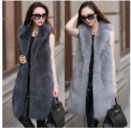Colete Feminino Womens Large Size Faux Fur Vest Large Size Winter Autumn Sleeveless Fur Jacket Femal