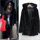Fashion Faux Fur Coat With Hood Women\'s Winter Jackets S-3XL Plus Size Warm Mink Fur Coat Of Artifi