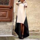 Plus Size 2018 Women Dress Irregular Hem Turtleneck Patchwork Party Dreses Ladies Fashion Sexy Maxi
