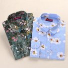 Dioufond Vintage Blouses Women Print Shirts Long Sleeve Cotton Tops Ladies Floral Blusas Plus Size 5