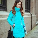 Autumn winter jacket Women Thick Hooded Cotton-Padded Jacket Plus size Candy color Slim Down Cotton