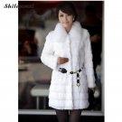 Faux Fur Coat Long Plus Size Fur Ostrich Coat Belt for Women Sheepskin 2017 HOT Women\'s Winter Warm