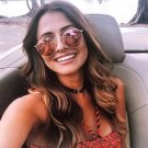 Classic Vintage Small Round Sunglasses Retro Men Women Brand Designer Metal Pink Mirror Sun Glasses