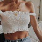 Sexy Fashion Women Short Casual Tank Tops Vest Bow Bandage Halter Blouse T-Shirt