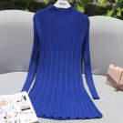 Women Sweaters And Pullovers 2016 Runway Autumn Knitted Casual Loose Long Sweater Turtleneck Dress T